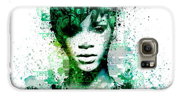 Rihanna 5 Galaxy S6 Case by Bekim Art