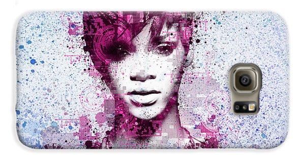 Rihanna 8 Galaxy S6 Case by Bekim Art