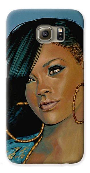Rihanna Painting Galaxy S6 Case by Paul Meijering