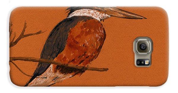 Ringed Kingfisher Bird Galaxy S6 Case by Juan  Bosco