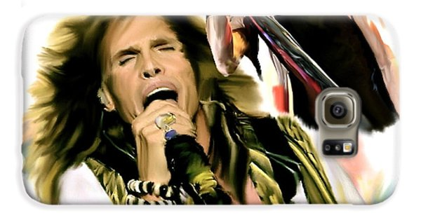 Rocks Gothic Lion II  Steven Tyler Galaxy S6 Case by Iconic Images Art Gallery David Pucciarelli