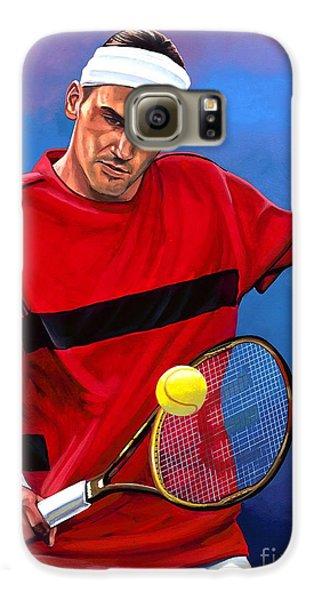 Roger Federer The Swiss Maestro Galaxy S6 Case by Paul Meijering