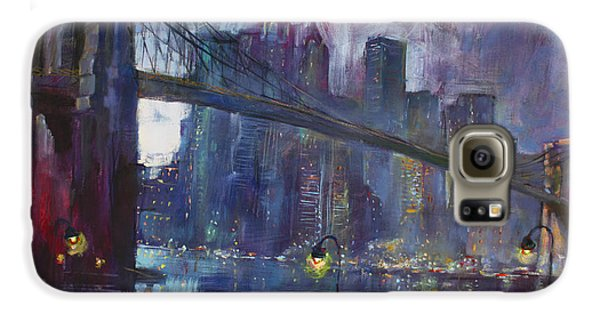 Romance By East River Nyc Galaxy S6 Case by Ylli Haruni