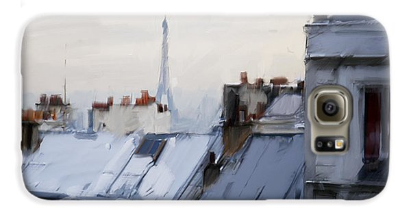 Rooftops Of Paris Galaxy S6 Case by H James Hoff