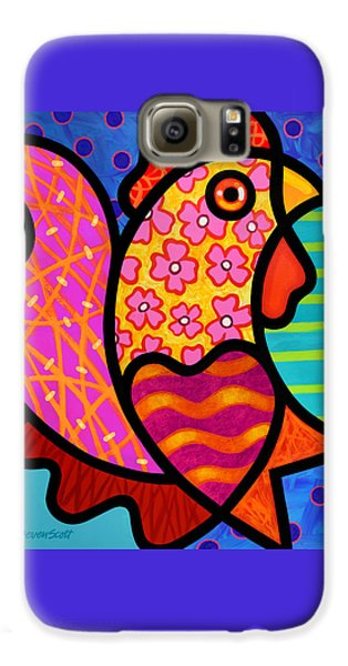 Rooster Dance Galaxy S6 Case by Steven Scott