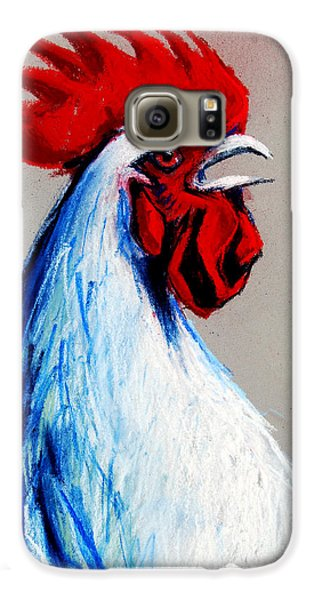Rooster Head Galaxy S6 Case by Mona Edulesco