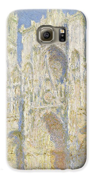 Rouen Cathedral West Facade Galaxy S6 Case by Claude Monet