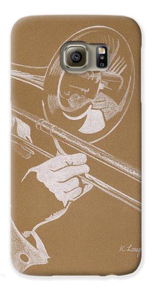 Sacred Trombone Galaxy S6 Case by Karen  Loughridge KLArt