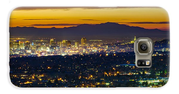 Salt Lake City At Dusk Galaxy S6 Case by James Udall