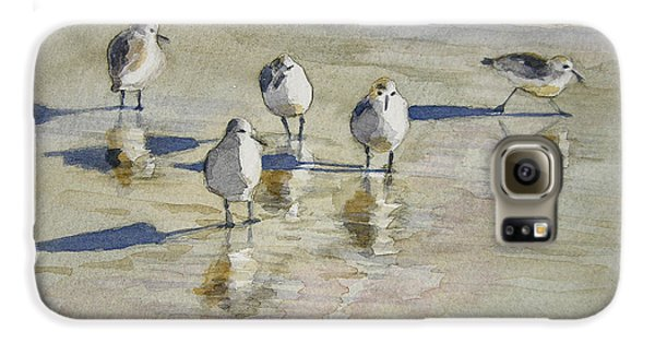 Sandpipers 2 Watercolor 5-13-12 Julianne Felton Galaxy S6 Case by Julianne Felton