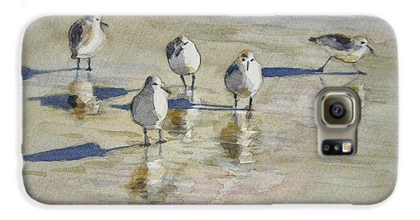 Sandpipers 2 Watercolor 5-13-12 Julianne Felton Galaxy S6 Case by Julianne Felton