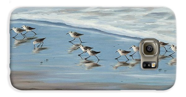 Sandpipers Galaxy S6 Case by Tina Obrien
