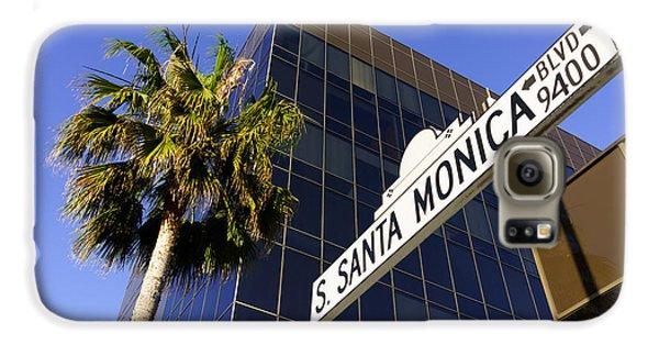 Santa Monica Blvd Sign In Beverly Hills California Galaxy S6 Case by Paul Velgos