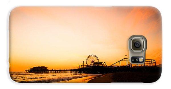 Santa Monica Pier Sunset Southern California Galaxy S6 Case by Paul Velgos