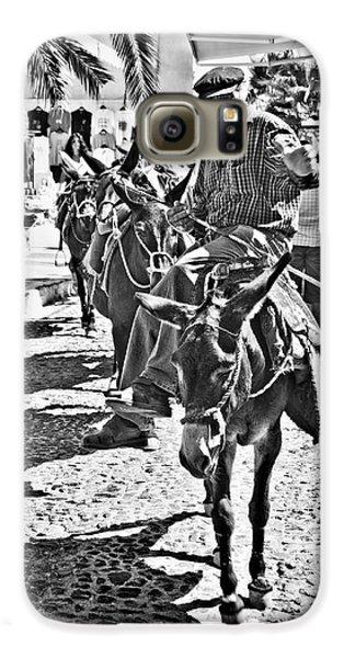 Santorini Donkey Train. Galaxy S6 Case by Meirion Matthias