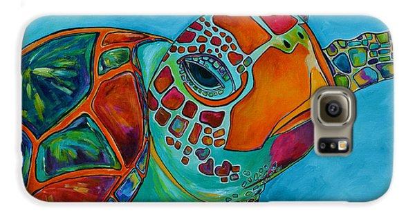 Seaglass Sea Turtle Galaxy S6 Case by Patti Schermerhorn