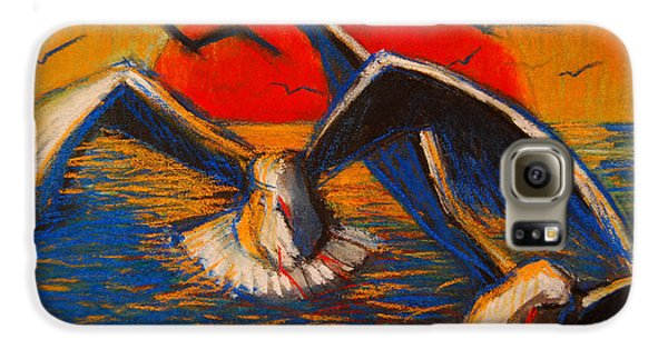 Seagulls At Sunset Galaxy S6 Case by Mona Edulesco