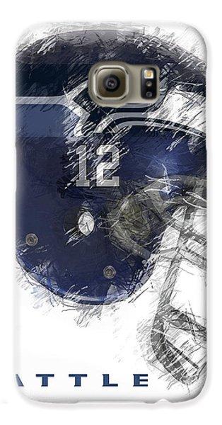 Seahawks 12 Galaxy S6 Case by Daniel Hagerman
