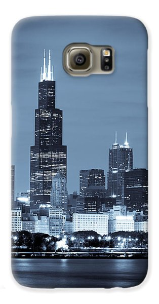 Sears Tower In Blue Galaxy Case by Sebastian Musial