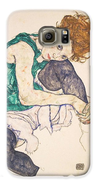 Seated Woman With Legs Drawn Up. Adele Herms Galaxy S6 Case by Egon Schiele