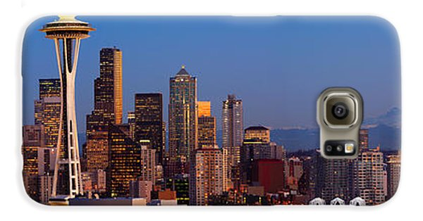 Seattle Winter Evening Panorama Galaxy S6 Case by Inge Johnsson