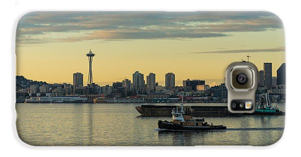 Seattles Working Harbor Galaxy S6 Case by Mike Reid