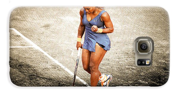 Serena Williams Count It Galaxy S6 Case by Brian Reaves