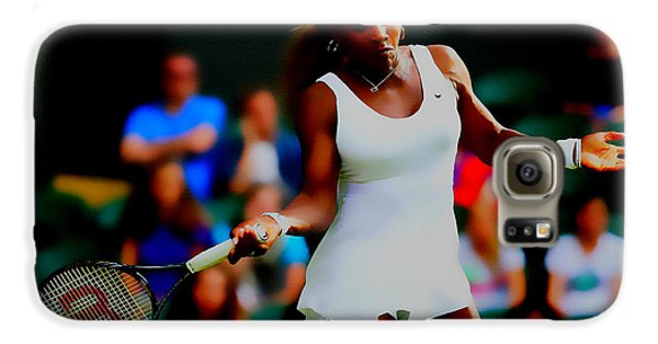 Serena Williams Making It Look Easy Galaxy S6 Case by Brian Reaves