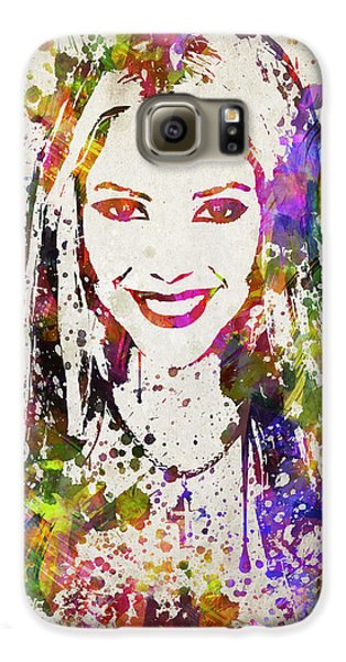Shakira In Color Galaxy S6 Case by Aged Pixel