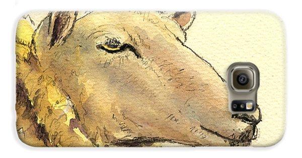 Sheep Head Study Galaxy S6 Case by Juan  Bosco