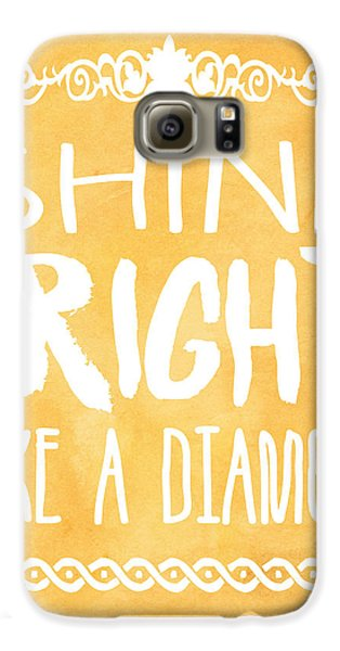 Shine Bright Orange Galaxy S6 Case by Pati Photography