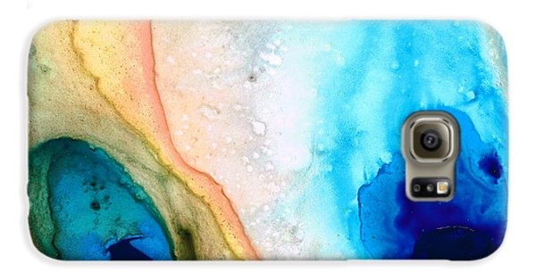 Shoreline - Abstract Art By Sharon Cummings Galaxy S6 Case by Sharon Cummings