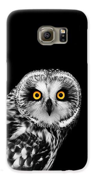 Short-eared Owl Galaxy S6 Case by Mark Rogan