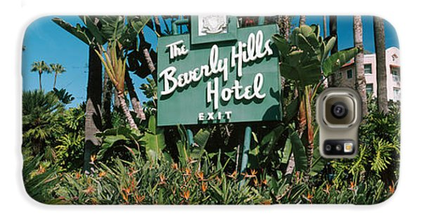 Signboard Of A Hotel, Beverly Hills Galaxy S6 Case by Panoramic Images