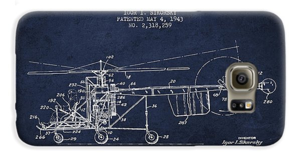 Sikorsky Helicopter Patent Drawing From 1943 Galaxy S6 Case by Aged Pixel
