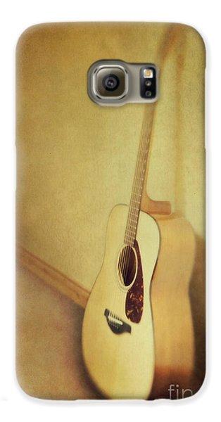Silent Guitar Galaxy S6 Case by Priska Wettstein