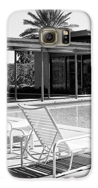 Sinatra Pool Bw Palm Springs Galaxy S6 Case by William Dey