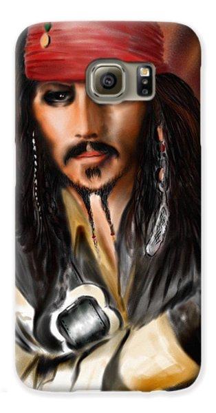 Sketching A Pirate... Galaxy S6 Case by Alessandro Della Pietra