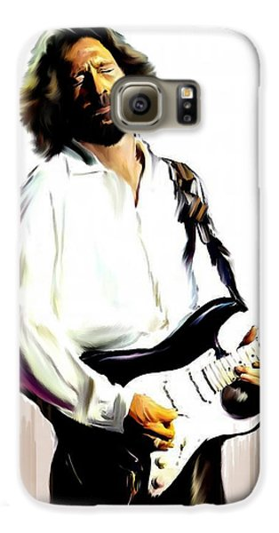 Slow Hand  Eric Clapton Galaxy S6 Case by Iconic Images Art Gallery David Pucciarelli