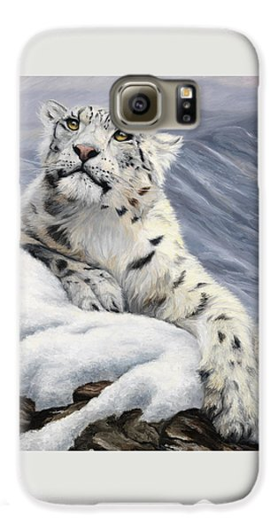 Snow Leopard Galaxy S6 Case by Lucie Bilodeau