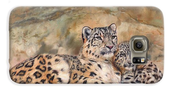 Snow Leopards Galaxy S6 Case by David Stribbling