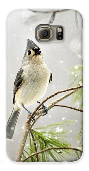 Snowy Songbird Galaxy S6 Case by Christina Rollo