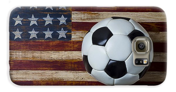 Soccer Ball And Stars And Stripes Galaxy S6 Case by Garry Gay