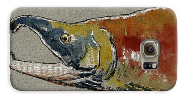 Sockeye Salmon Head Study Galaxy S6 Case by Juan  Bosco