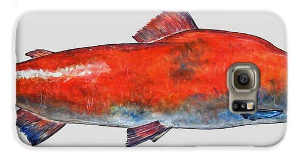 Sockeye Salmon Galaxy S6 Case by Juan  Bosco