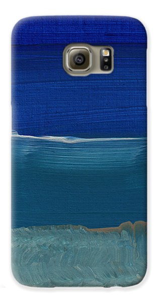 Soft Crashing Waves- Abstract Landscape Galaxy S6 Case by Linda Woods
