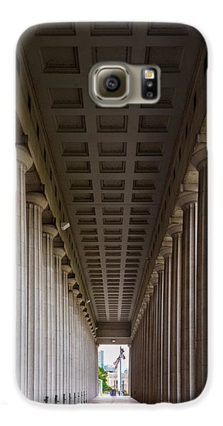 Soldier Field Colonnade Galaxy S6 Case by Steve Gadomski