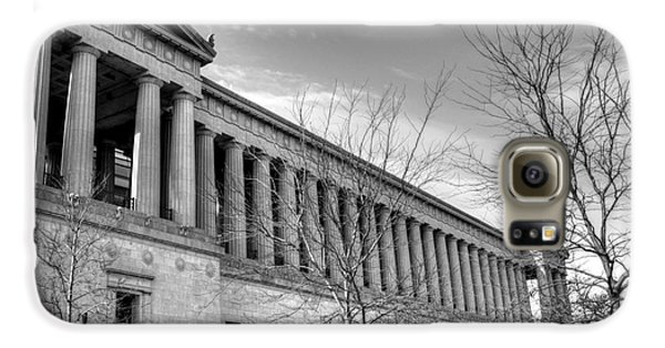 Soldier Field In Black And White Galaxy S6 Case by David Bearden