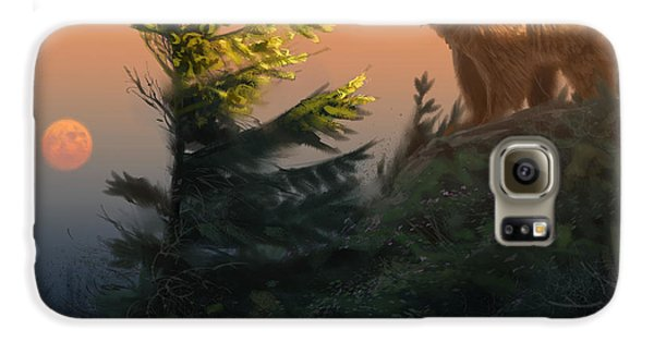 Something On The Air - Grizzly Galaxy S6 Case by Aaron Blaise