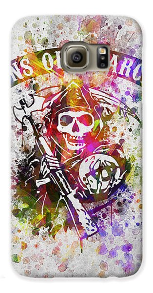 Sons Of Anarchy In Color Galaxy S6 Case by Aged Pixel